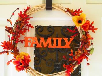 Warm fall wreath - highlights what the season is all about!