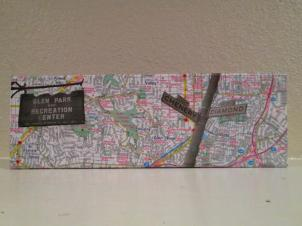 Original Glen Park pictures on 4x12 map wrapped canvas